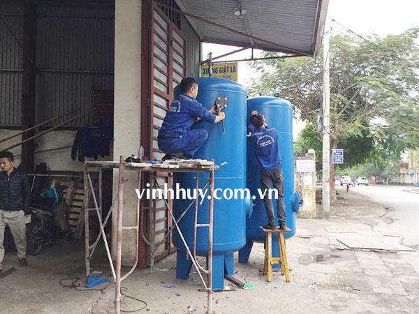 bồn chứa khí nhà máy xi măng